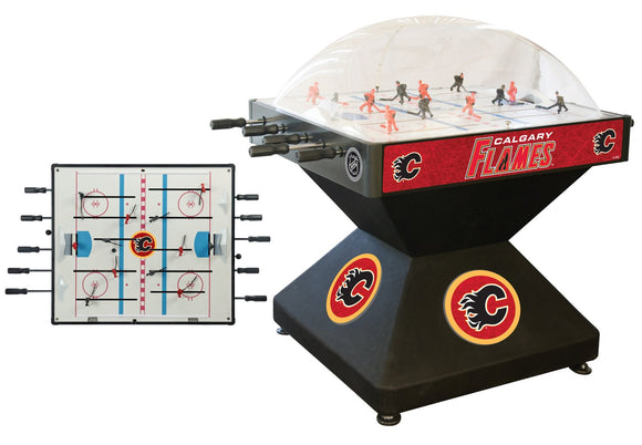 Calgary Flames Dome Hockey (Deluxe) Game by Holland Bar Stool Company, Dome Hockey, Holland Bar Stool Company - The Luxury Man Cave