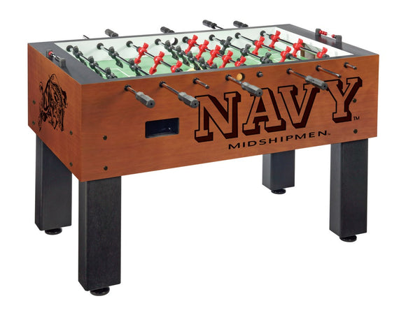 US Naval Academy (NAVY) Foosball Table by Holland Bar Stool Co., Foosball, Holland Bar Stool Company - The Luxury Man Cave