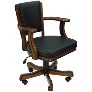 SWIVEL GAME CHAIR - CHESTNUT by RAM Gameroom, Gambling chair, RAM Gameroom - The Luxury Man Cave