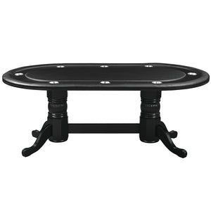 "84"" TEXAS HOLD'EM GAME TABLE - BLACK by RAM Gameroom, Gaming Table, RAM Gameroom - The Luxury Man Cave"