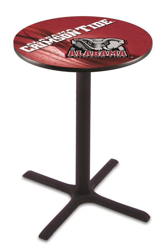 Alabama (Elephant) L211 - Black Wrinkle Pub Table by Holland Bar Stool Co.