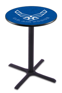 U.S. Air Force L211 - Black Wrinkle Pub Table by Holland Bar Stool Co.