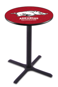 Arkansas L211 - Black Wrinkle Pub Table by Holland Bar Stool Co.