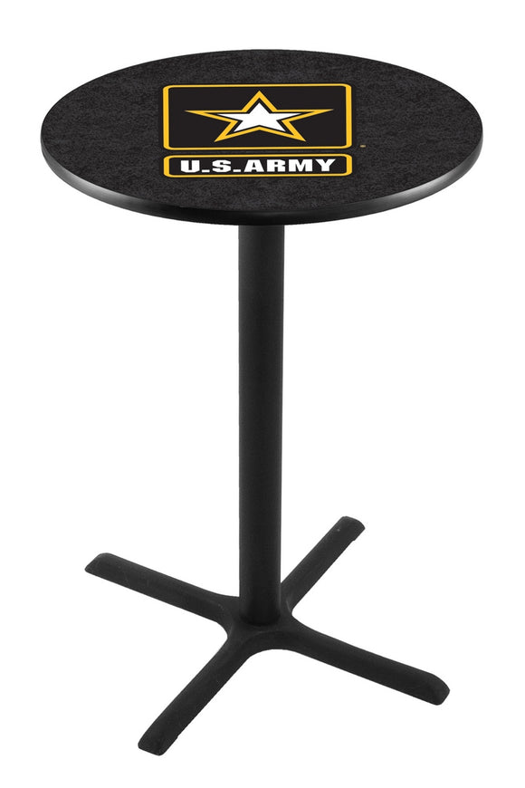 U.S. Army L211 - Black Wrinkle Pub Table by Holland Bar Stool Co.