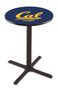 California L211 - Black Wrinkle Pub Table by Holland Bar Stool Co.