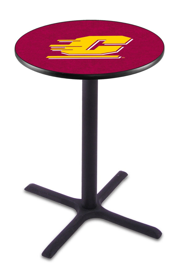Central Michigan L211 - Black Wrinkle Pub Table by Holland Bar Stool Co.