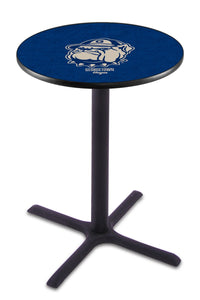 Georgetown L211 - Black Wrinkle Pub Table by Holland Bar Stool Co.