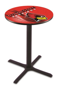 Illinois State L211 - Black Wrinkle Pub Table by Holland Bar Stool Co.