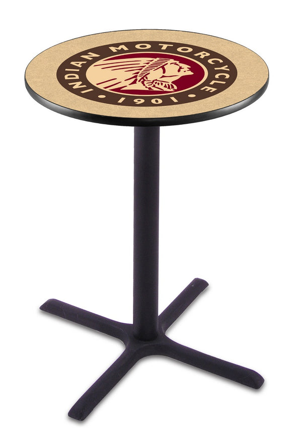 Indian Motorcycle L211 - Black Wrinkle Pub Table by Holland Bar Stool Co.