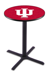 Indiana L211 - Black Wrinkle Pub Table by Holland Bar Stool Co.