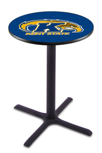 Kent State L211 - Black Wrinkle Pub Table by Holland Bar Stool Co.