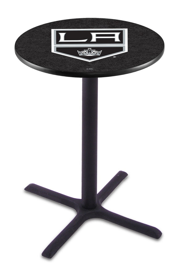 Los Angeles Kings L211 - Black Wrinkle Pub Table by Holland Bar Stool Co.