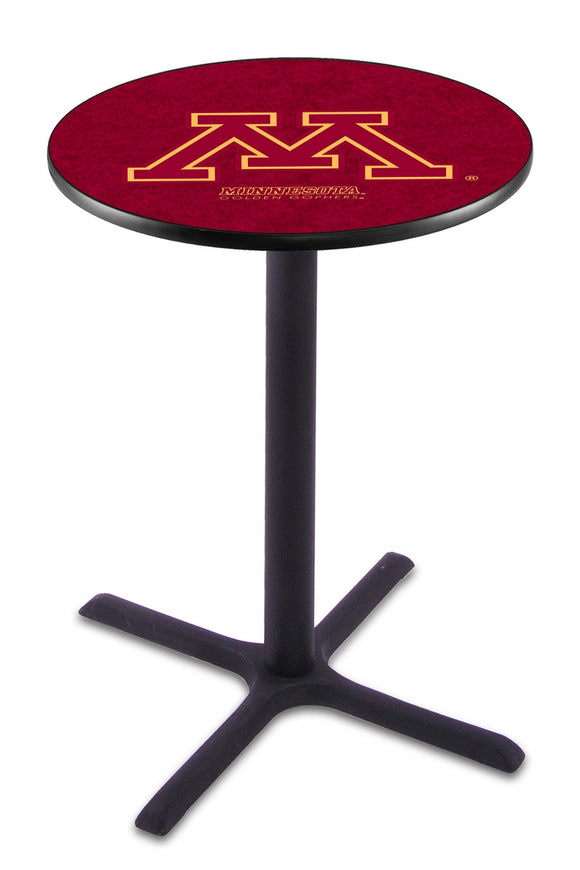 Minnesota L211 - Black Wrinkle Pub Table by Holland Bar Stool Co.