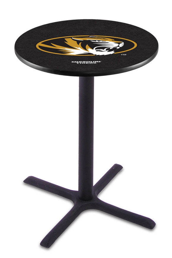 Missouri L211 - Black Wrinkle Pub Table by Holland Bar Stool Co.