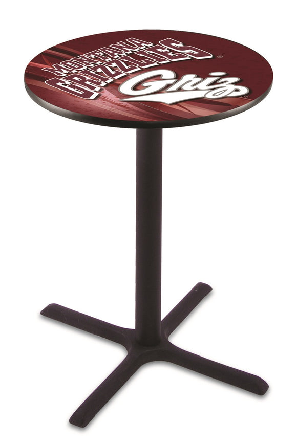 Montana L211 - Black Wrinkle Pub Table by Holland Bar Stool Co.