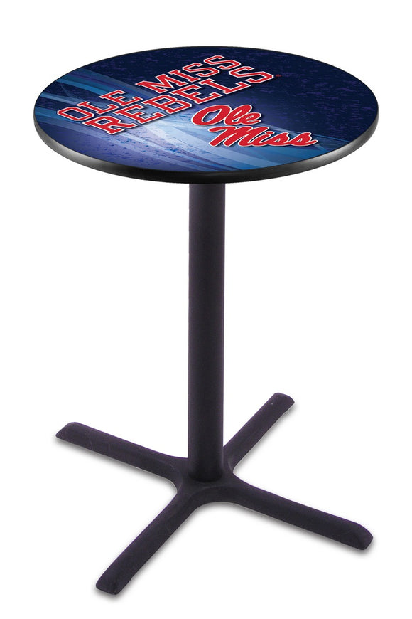 Mississippi L211 - Black Wrinkle Pub Table by Holland Bar Stool Co.