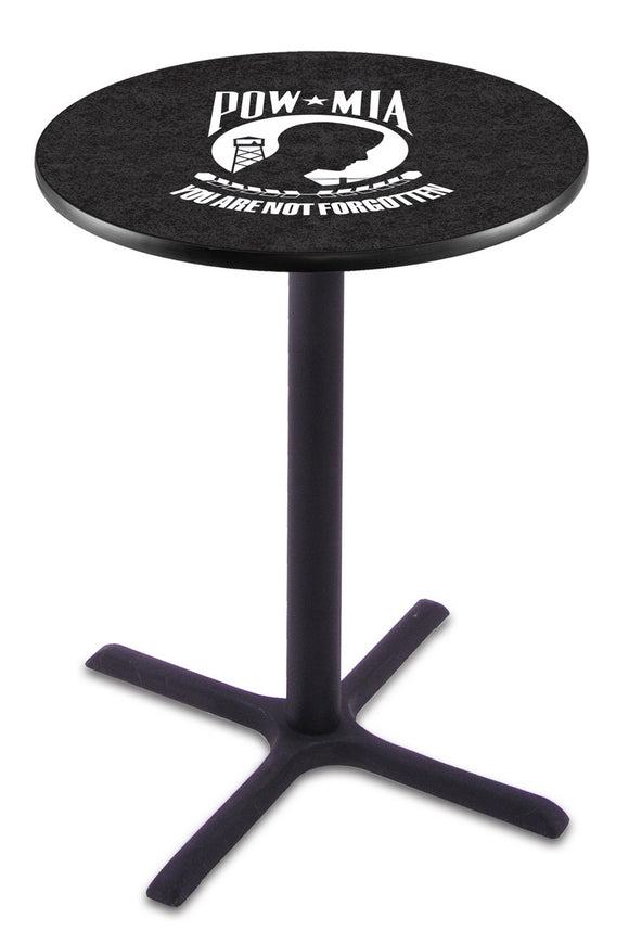 POW/MIA L211 - Black Wrinkle Pub Table by Holland Bar Stool Co.