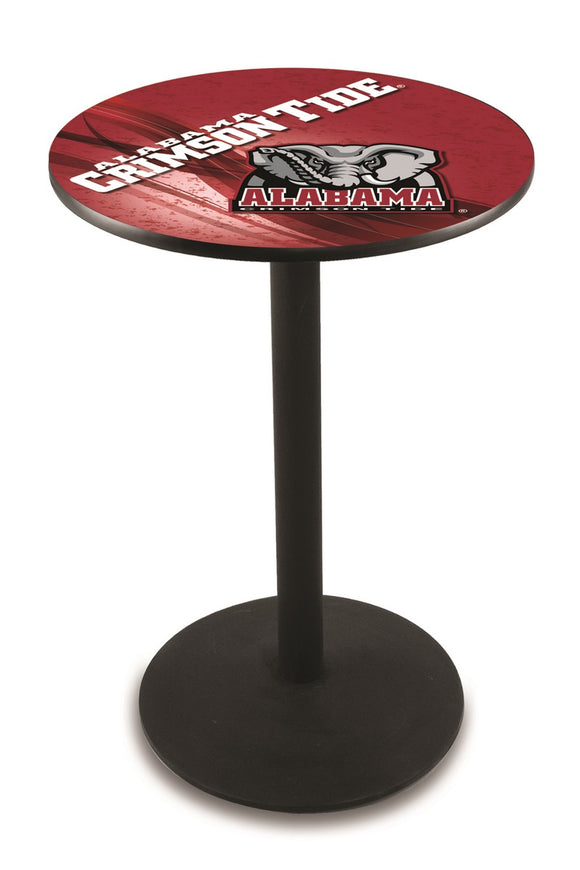 Alabama (Elephant) L214 - Black Wrinkle Pub Table by Holland Bar Stool Co.