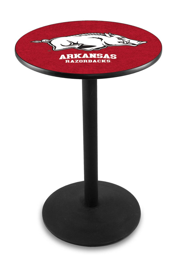 Arkansas L214 - Black Wrinkle Pub Table by Holland Bar Stool Co.