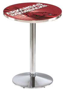 Arkansas L214 - Chrome Pub Table by Holland Bar Stool Co.
