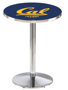 California L214 - Chrome Pub Table by Holland Bar Stool Co.