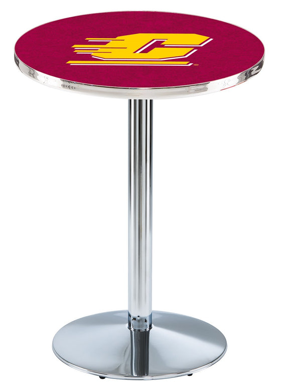 Central Michigan L214 - Chrome Pub Table by Holland Bar Stool Co.