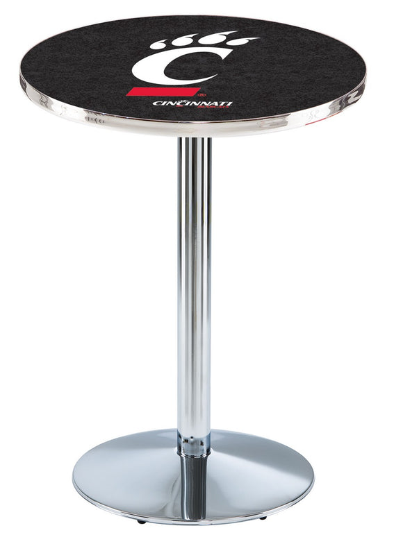 Cincinnati L214 - Chrome Pub Table by Holland Bar Stool Co.