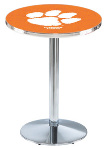 Clemson L214 - Chrome Pub Table by Holland Bar Stool Co.