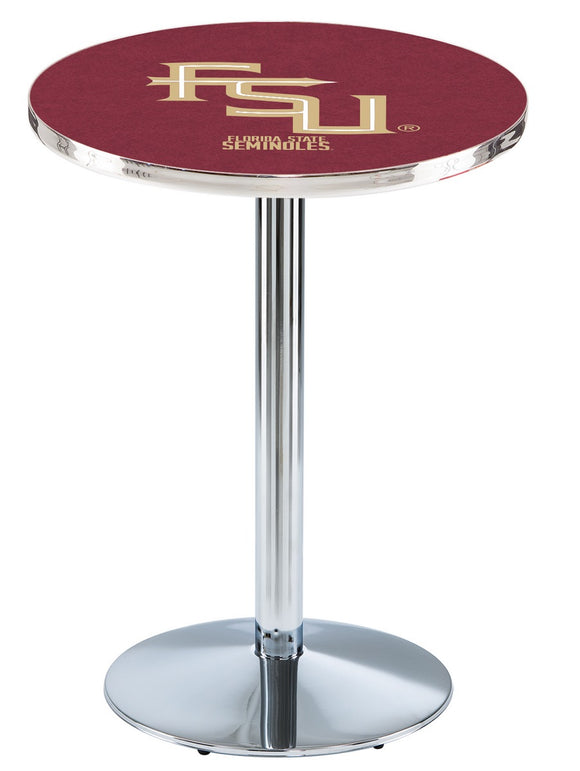 Florida State (Script) L214 - Chrome Pub Table by Holland Bar Stool Co.
