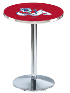 Fresno State L214 - Chrome Pub Table by Holland Bar Stool Co.