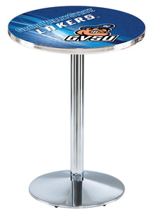 Grand Valley State L214 - Chrome Pub Table by Holland Bar Stool Co.
