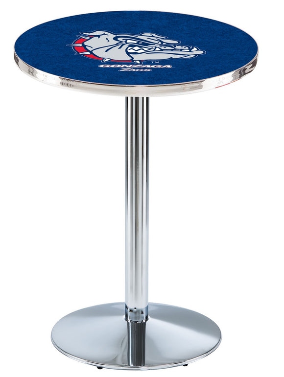 Gonzaga L214 - Chrome Pub Table by Holland Bar Stool Co.