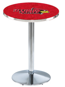 Illinois State L214 - Chrome Pub Table by Holland Bar Stool Co.