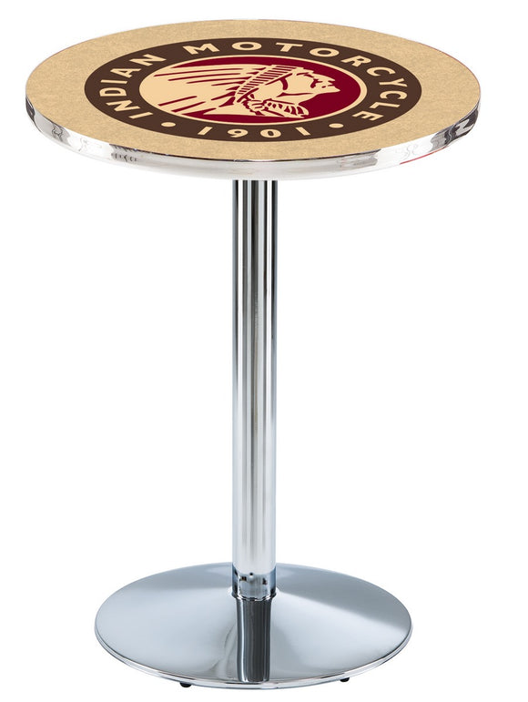 Indian Motorcycle L214 - Chrome Pub Table by Holland Bar Stool Co.