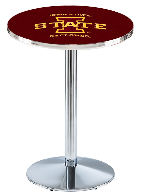 Iowa State L214 - Chrome Pub Table by Holland Bar Stool Co.
