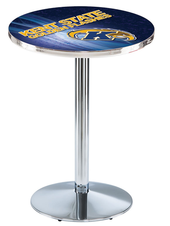 Kent State L214 - Chrome Pub Table by Holland Bar Stool Co.