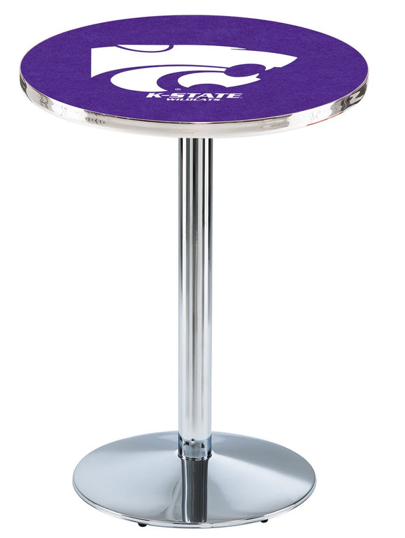 Kansas State L214 - Chrome Pub Table by Holland Bar Stool Co.