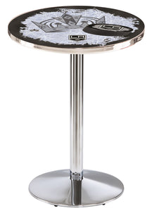 Los Angeles Kings L214 - Chrome Pub Table by Holland Bar Stool Co.