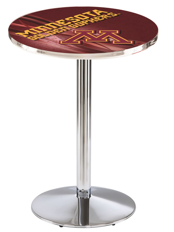 Minnesota L214 - Chrome Pub Table by Holland Bar Stool Co.