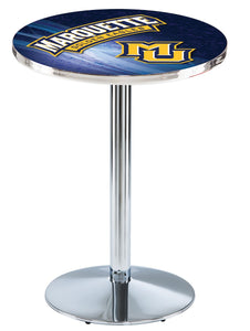 Marquette L214 - Chrome Pub Table by Holland Bar Stool Co.