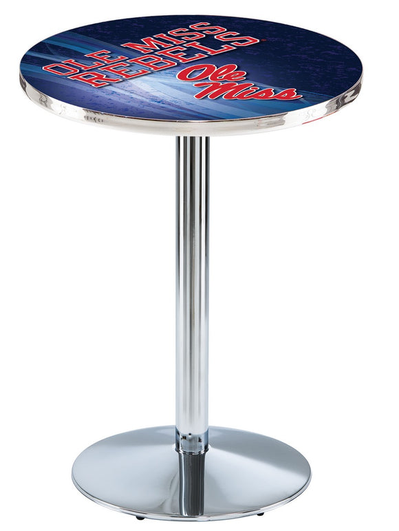 Mississippi L214 - Chrome Pub Table by Holland Bar Stool Co.