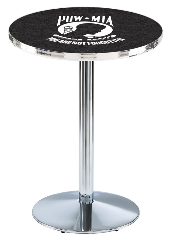 POW/MIA L214 - Chrome Pub Table by Holland Bar Stool Co.