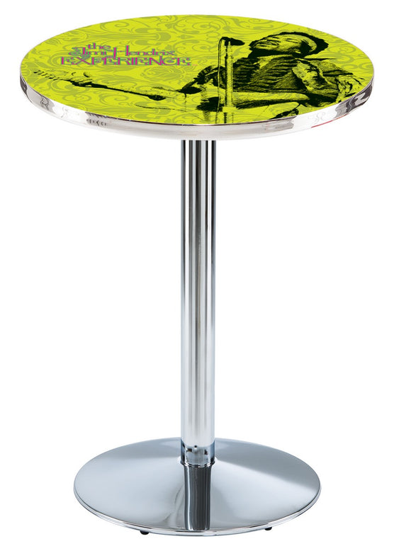 Jimi Hendrix - JHE (Green) L214 - Chrome Pub Table by Holland Bar Stool Co.