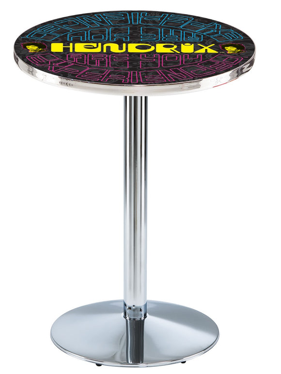 Jimi Hendrix - AYE (Mirrored) L214 - Chrome Pub Table by Holland Bar Stool Co.