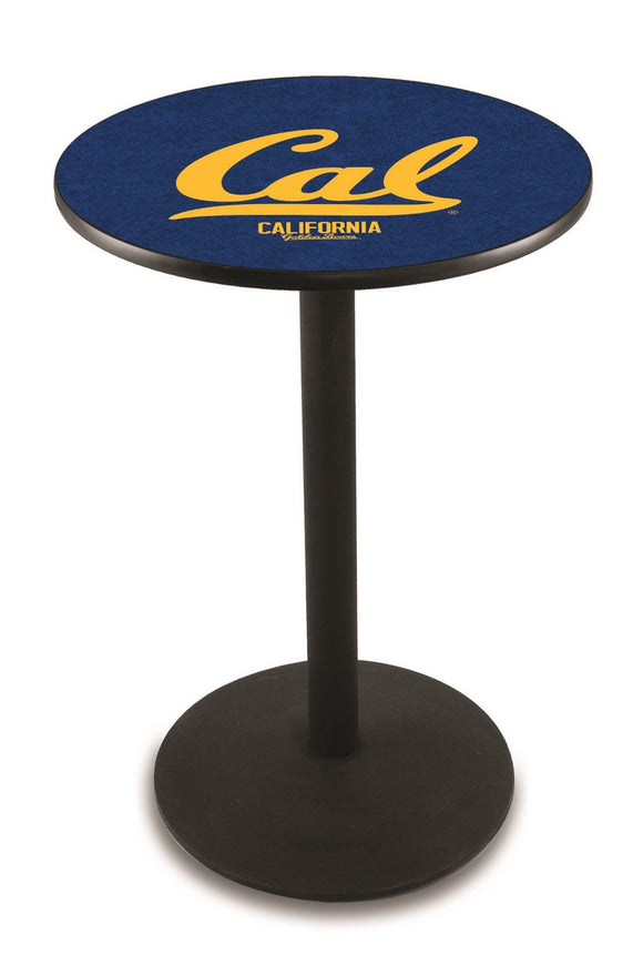 California L214 - Black Wrinkle Pub Table by Holland Bar Stool Co.