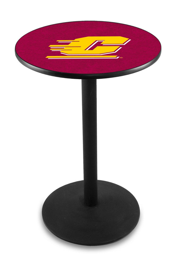 Central Michigan L214 - Black Wrinkle Pub Table by Holland Bar Stool Co.