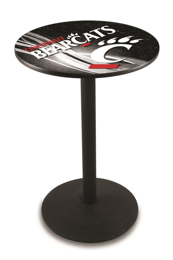 Cincinnati L214 - Black Wrinkle Pub Table by Holland Bar Stool Co.