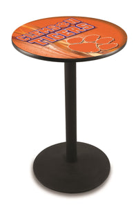 Clemson L214 - Black Wrinkle Pub Table by Holland Bar Stool Co.