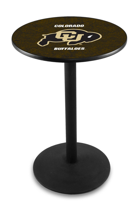 Colorado L214 - Black Wrinkle Pub Table by Holland Bar Stool Co.
