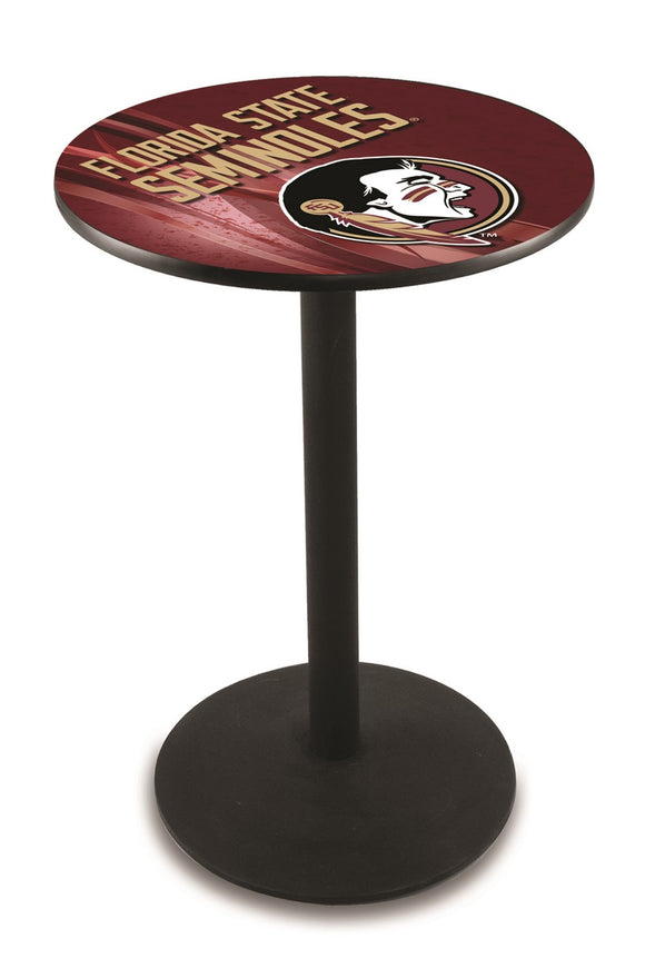 Florida State (Head) L214 - Black Wrinkle Pub Table by Holland Bar Stool Co.